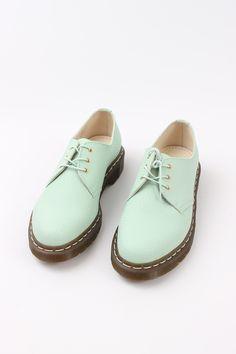Dr. Martens Mint Low Top Lace Up Shoes