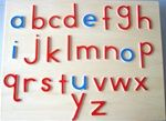 Montessori Materials: Large Movable Alphabet, Print (without box)