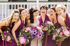 Purple bridesmaid style | Catherine Rhodes Photography