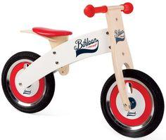 Bicicleta sin pedales Bikloon Rojo y blanco; Esta bici de madera con asiento regulable es espectacular. Ideal para conseguir que el niño perfeccione su equilibrio y desarrolle su sentido de la orientación. Además la selección de colores le harán ser el más molón del parque... En http://www.opirata.com/bicicleta-pedales-bikloon-rojo-blanco-p-29170.html