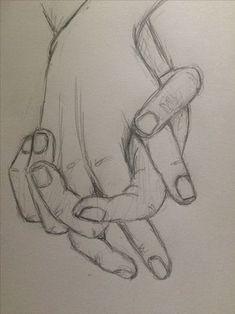 Prática esboço segurando as mãos 4 - pinkishcoconut Zeichnungen iDeen ✏️ Cool Art Drawings, Pencil Art Drawings, Easy Drawings, Joker Pencil Drawing, Beautiful Pencil Drawings, Bff Drawings, Beautiful Sketches, Beautiful Collage, Chalk Drawings