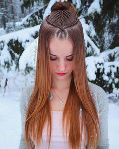 Side Braid Hairstyles, Pretty Hairstyles, Easy Hairstyles For Long Hair, Updo Hairstyle, Prom Hairstyles, Front Braids, Twist Braids, Box Braids, Curly Hair Styles