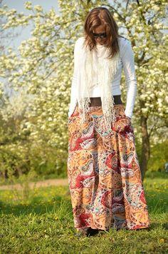 Měla jsem dlouhou . . . chvíli Bohemian, Skirts, Style, Fashion, Swag, Moda, Fashion Styles, Skirt