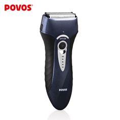 POVOS 남성 충전식 전기 면도기 완전 빨 트리플 블레이드 EU 플러그 개인 관리 면도기 면도 PS8108