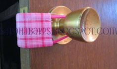 YAY! for baking!!!.... and crafts!: Door Latch Cover Tutorial