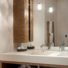 The Premium Suite of the Designhotel Bad Bubendorf in Switzerland is a classy place to relax. The washbasin is made of VARICOR®. Washroom, Bad, Switzerland, Catering, Modern, Relax, Classy, Interior Design, Mirror
