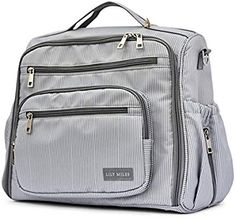 7c0b5ba9c99 Diaper Bag Backpack by Lily Miles - Large Baby Diaper Bags with Changing  Pad Set -