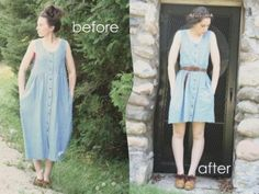 The Fabulosity Factor: DIY thrifted dress makeover - denim jumper