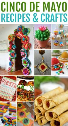 This collection of Cinco De Mayo recipes and crafts are the perfect thing for your fiesta celebration. Cinco De Mayo party ideas, food, and decorations.