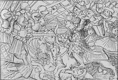 The battle between the Turks and Christian knights during the Ottoman wars in Europe. Ottoman Turks, Roman Church, Military Orders, Imperial Knight, German People, State Of Grace, The Siege, The Turk, Illustrations