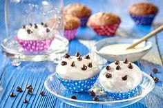Mini babeczki czekoladowe zpolewą gotową białą Miss Cupcake, Cook, Recipes, Rezepte, Recipe, Koken, Cooking Recipes