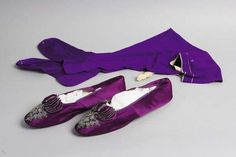 How about purple shoes and purple stockings?