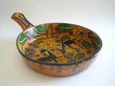 Early Fantasia Style Mexican Majolica Folk Art Pottery, Vintage 1920s