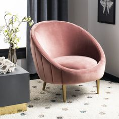 Looking for Safavieh Couture Home Razia Retro Glam Dusty Rose Pink Velvet Channel Tufted Tub Chair ? Check out our picks for the Safavieh Couture Home Razia Retro Glam Dusty Rose Pink Velvet Channel Tufted Tub Chair from the popular stores - all in one.