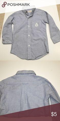 Saddlebred boys button down shirt Boys long sleeve button down pinstripe shirt by Saddlebred, good condition Saddlebred Shirts & Tops Button Down Shirts