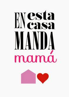 Menta & Limón: MANDA MAMÁ Una lámina descargable para el día de la madre!