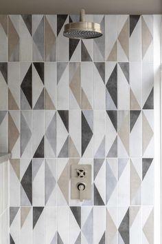 Oblique Latte Mix Decor Porcelain Tiles | Mandarin Stone