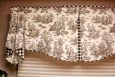 "Custom Valance MAISON Hidden Rod Pocket Valance 30""- 44"" window, Custom made using your fabrics, my LABOR and lining  #custom #hidden #maison #pocket #valance #window"
