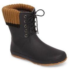 Women's Dav Lace-Up Weatherproof Rain Boot   My Style  #affilatelink