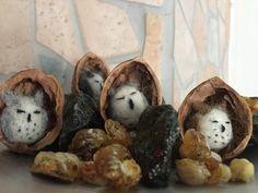 Felt Gifts, Felt Owls, Miniatures, Handmade, Etsy, Wrap Around, Goodies, Wool
