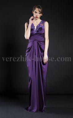 Платье Verezhik House Luxury  Цвет: фиолетовый  Вечернее изысканное платье , модель выполнена из высококачественного материала. Сетка декорированная французским кружевом. Вы не останетесь незамеченной . Материал: 49%вискоза,35%шёлк,14%полиамид, 2%еластан.