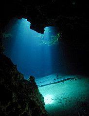 ocean floor cavern