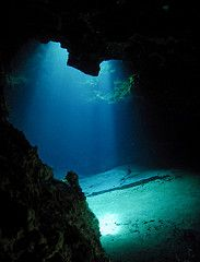 ocean floor cavern