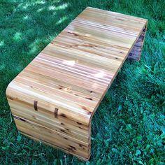Salvaged cedar hall bench