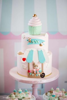 Incredible cake at an ice cream birthday party! See more party ideas at CatchMyParty.com!