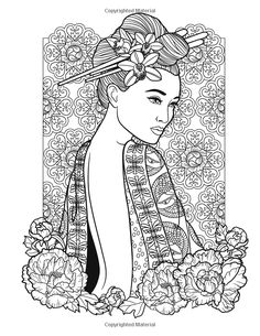 Amazon.com: Flowers & Fashion: Women of the World Coloring Book (9781537068114): Pamela Duarte: Books
