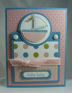 Adorable baby card  using the Ronald McDonald set!