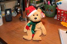 """2003 TY Beanie Babies """"2003 Holiday Teddy"""" - NWT - Born December 25, 2003"""