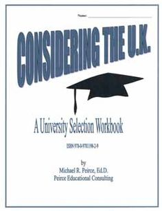 A workbook for Canadian students considering British universities.