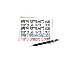 Birthday Card Happy Birthday To You Song by VLHamlinDesign on Etsy