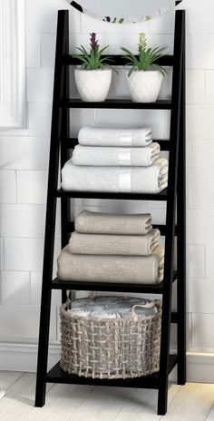 Legend Big DIY Bathroom Storage Ideas # Storage Ideas # bathroom # tool - DIY Home Decor Bathroom Towel Storage, Vanity Bathroom, Bathroom Shelves For Towels, Design Bathroom, Towel Rack Bathroom, Storage Ideas For Bathroom, Bathroom Styling, Bathroom Ladder, Bathroom Canvas