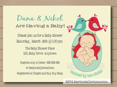 Gay couple baby shower invitations