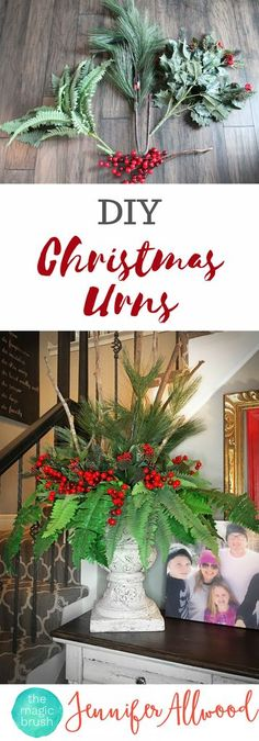DIY Christmas Urns & Christmas Floral Arrangements | Magic Brush | Holiday Flower Arrangements as Christmas Decor