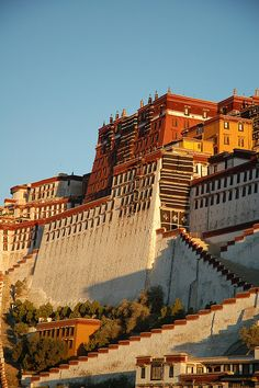 The Potala Palace at sunrise, Lhasa, Tibet by iancowe, via Flickr