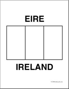 Clip Art Flags Ireland Coloring Page