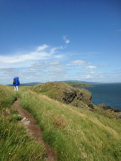 Coastal path between Balcary Point and Rascarral on the Solway Coast in Dumfries and Galloway. July 2015. B.