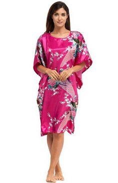 夏の ホット ピンク セクシー な シルク レーヨン ホーム ドレス女性夏寝間着スリープシャツ ローブ ガウン着物バスローブ プラス サイズ 6xl A-071