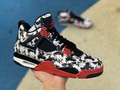 6d8151220a001e 2018 Mens Air Jordan 4 Tattoo Black Fire Red BQ0897-006 To Buy