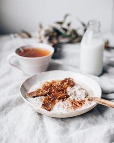 buckwheat porridge with coconut milk and caramelized bananas