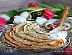 В преддверии Масленицы предлагаю вам испечь очень вкусные, чудесные блинчики! Эти заварные кефирные блины получаются не толстыми и не тонкими, с рыхлой, дырчатой структурой. Они приятны на вкус и хороши как со сметаной, так и с мёдом, творогом, сгущёнкой и джемом, а также с селёдкой и красной рыбкой!