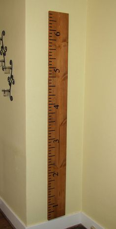 Wooden Ruler Growth Chart... measure your kids height and take it with you if you move! PLUS, 10% of all sales go to Children's Memorial Hospital.