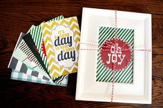 DIY Gifts | Give the gift that keeps on giving - a frame with printables that can be changed out throughout the year!