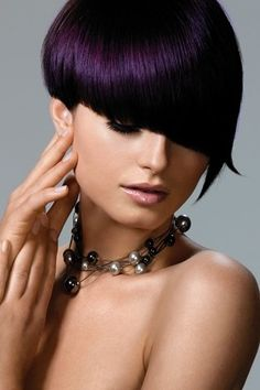 If I were like 15 years younger I would totally rock the dark purple hair!!