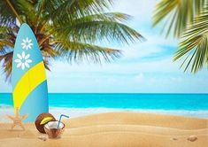 Summer beach backdrop blue sea for sale - whosedrop Types Of Photography, Photography Backdrops, Beach Photography, Food Photography, Summer Backgrounds, Photo Backgrounds, Summer Bulletin Boards, Beach Backdrop, Vinyl Photo Backdrops
