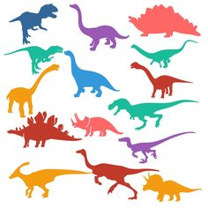 Dino Silhouettes Cuttable Design Cut File. Vector, Clipart, Digital Scrapbooking Download, Available in JPEG, PDF, EPS, DXF and SVG. Works with Cricut, Design Space, Sure Cuts A Lot, Make the Cut!, Inkscape, CorelDraw, Adobe Illustrator, Silhouette Cameo, Brother ScanNCut and other compatible software.