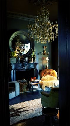 "gentlebyte: ""Abigail Ahern "" Dark Moody Charm Character Industrial Slick Living Lounge Bedroom Interior Style Design"